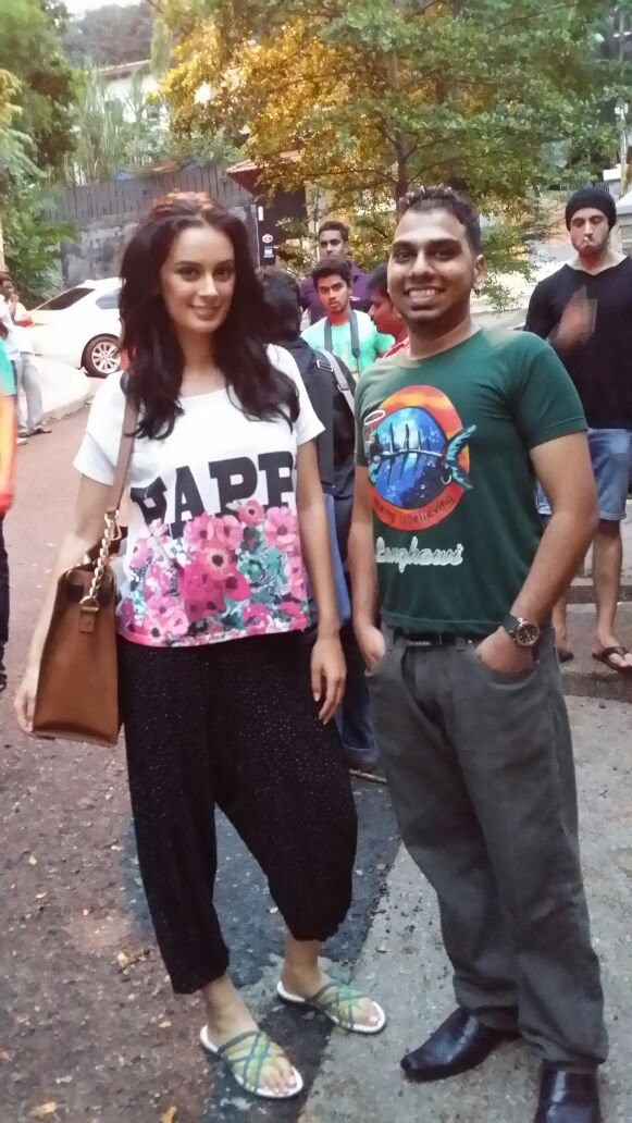 HERSH & ACTRESS EVELYN SHARMA